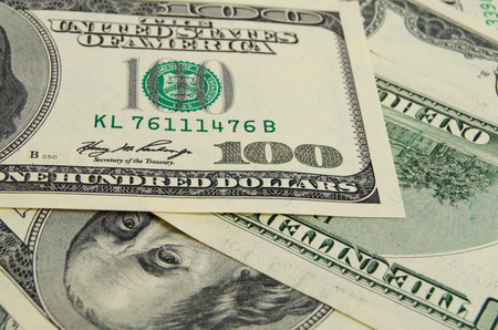 Een hoop geld Amerikaanse dollars.