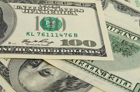 to cash: Una gran cantidad de dinero en efectivo de dólares. Foto de archivo