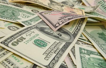 dollar: Un sacco di dollari americani.