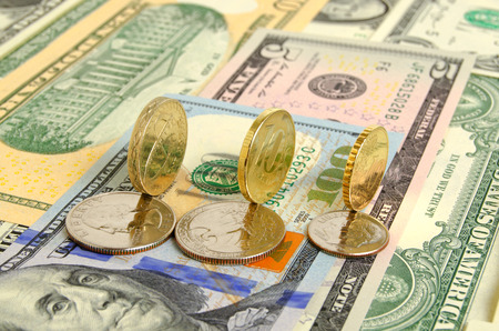 speculation: Still Life with cash dollars and coins.
