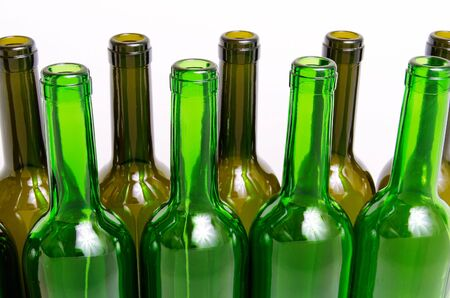 disposal: Empty glass bottles for industrial disposal. Stock Photo