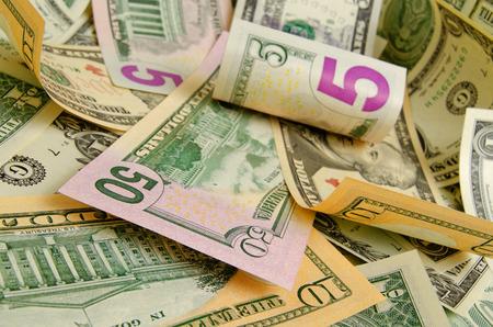 Cash dollars die op het vliegtuig.