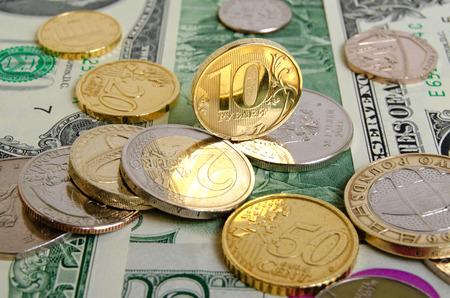 stillife: Ruble rate on international currency stock exchanges.