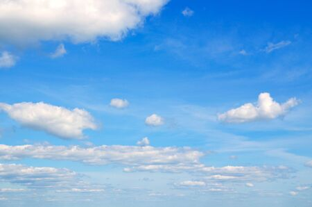 Blue sky with clouds for background. Stock Photo