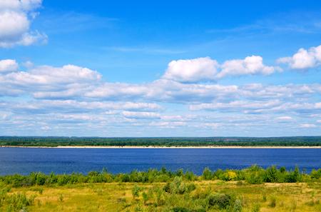 the volga river: Volga River in the summer, Chuvashia, Russia.