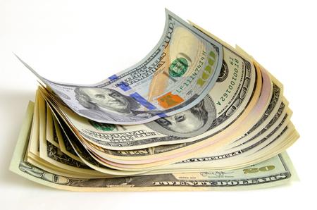 Cash dollars lying on the plane. Reklamní fotografie
