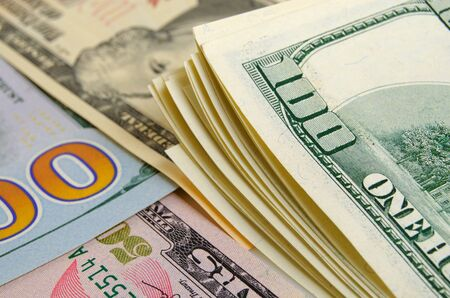 cash: Cash dollars lying on the plane. Foto de archivo