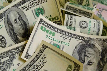 cash: D�lares en efectivo acostado en el avi�n.