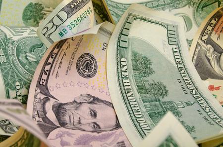 dollar: Cash dollars lying on the plane. Stock Photo