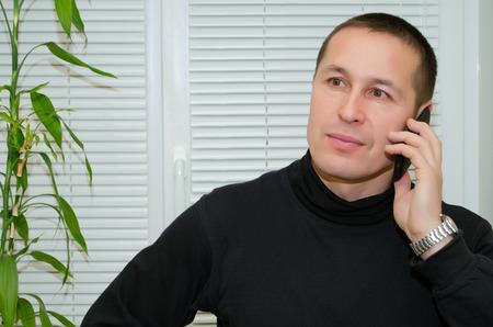A man talking on a cell phone. Stock fotó
