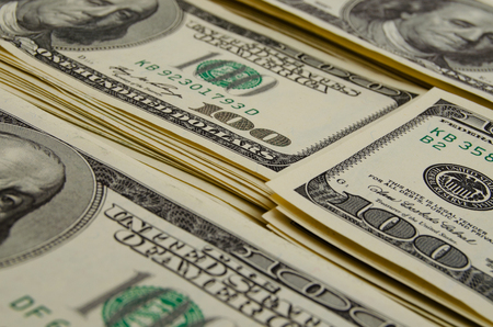cash: Cash dollars lying on the plane. Stock Photo
