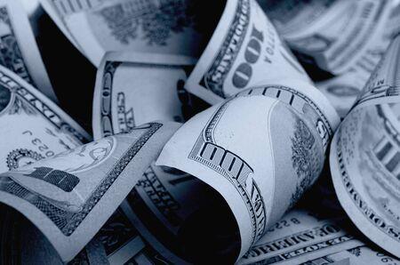 Cash dollars lying on the plane. Stock Photo