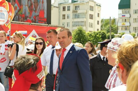 mikhail: Cheboksary, Chuvashia, Russia - June 24, 2016: President of Chuvashia Mikhail Ignatiev has met with citizens on a holiday Day of the Republic of Chuvashia.