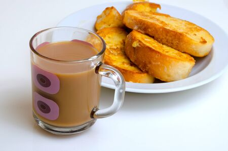 ration: Coffee with milk and bread fried in the egg.