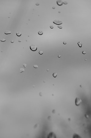 Drops on the window pane after rain. Stock fotó