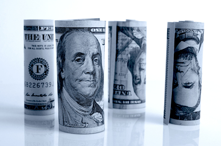 Financial accounting and control of profits and expenses. Stock Photo