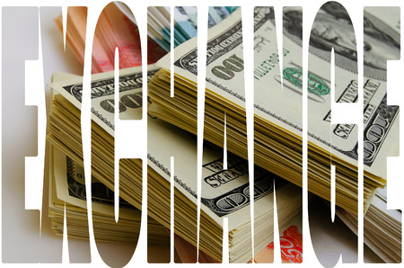 Currency speculation Russian ruble US dollar. Stock Photo