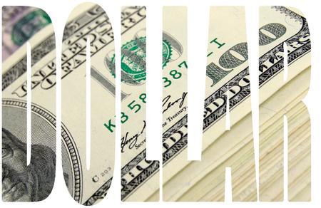 A lot of cash US dollars. Dollar font.