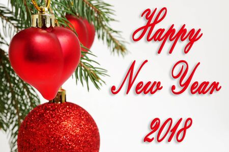 2018 Happy New Year holidays cooking and celebration.