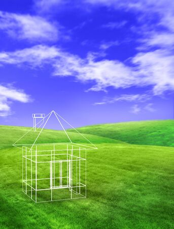 glade: concept house on glade clear solar daytime