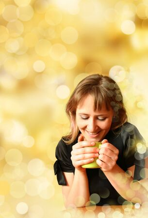 girl for cup of aromatic tea Stock Photo - 4653308