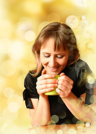 girl for cup of aromatic tea Stock Photo - 4653313