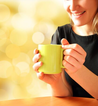 girl for cup of aromatic tea Stock Photo - 4653312