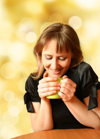 girl for cup of aromatic tea Stock Photo - 4653309