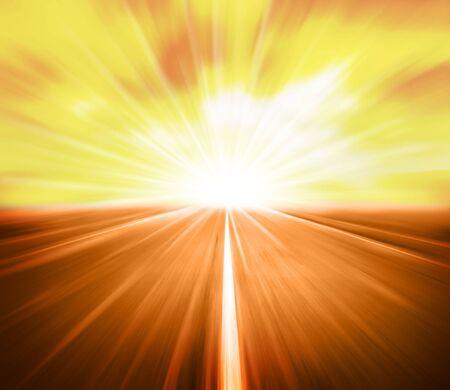 aandrijvingen: schoonheid hoge snelheid op de route Stockfoto
