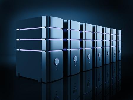 server room: server farm