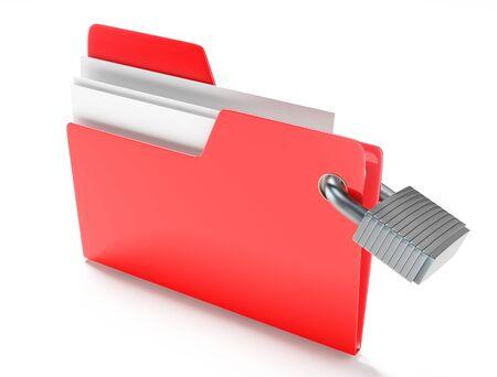 Folder with padlock photo