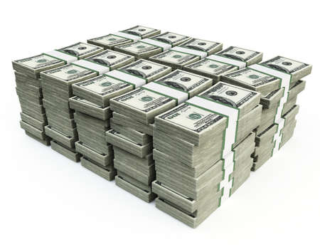stack of 100 $US bills Stock Photo - 9162251