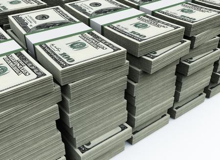 달러: stack of 100 $US bills 스톡 사진
