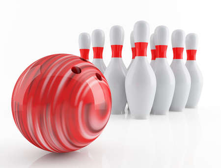 10: bowling Stock Photo
