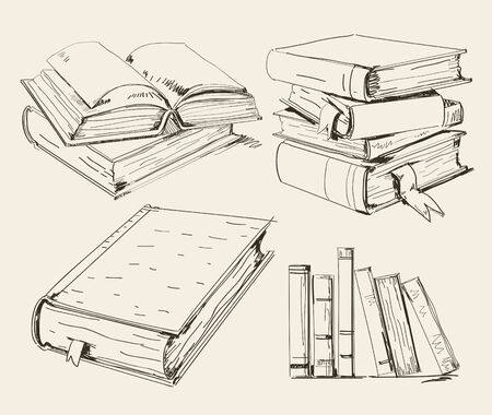 ancient book: Books stack Illustration