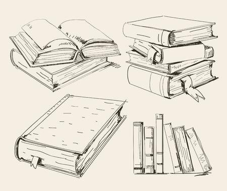 copertina libro antico: Pila di libri