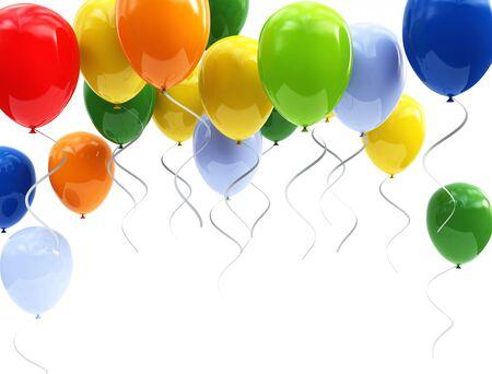 air baloon: colorful balloons Stock Photo