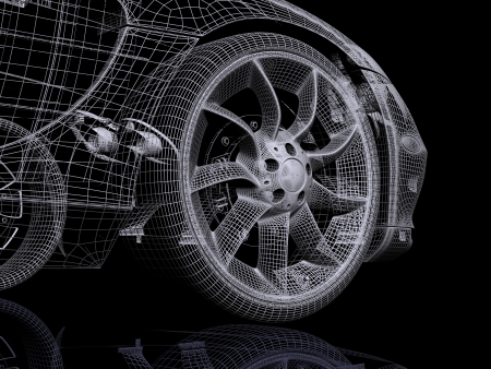 3d automobile photo