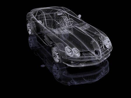 alloy: 3d automobile Stock Photo
