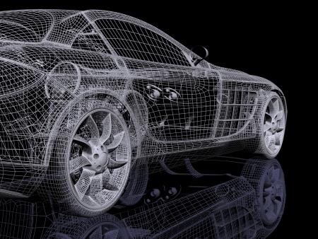 dream car: autom�vil 3D Foto de archivo