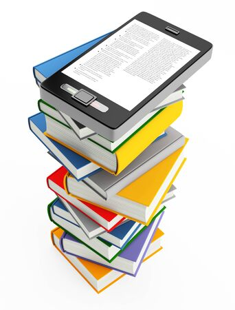 mobile phone and books photo
