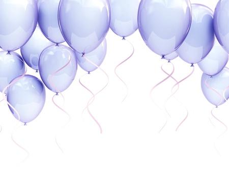 blue balloons photo