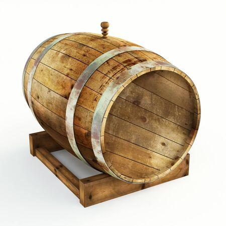 iron hoops: Wine barrel Stock Photo