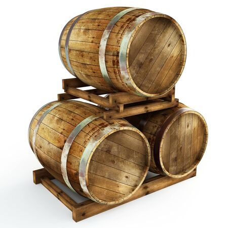 to chime: Wine barrel Stock Photo
