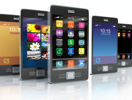 Stock of touchscreen phones Stock Photo - 9497656