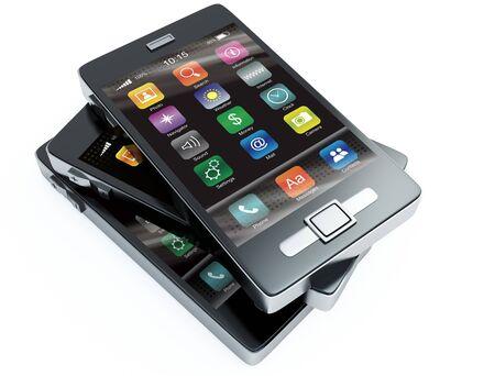 Stock of touchscreen phones Stock Photo - 9497653