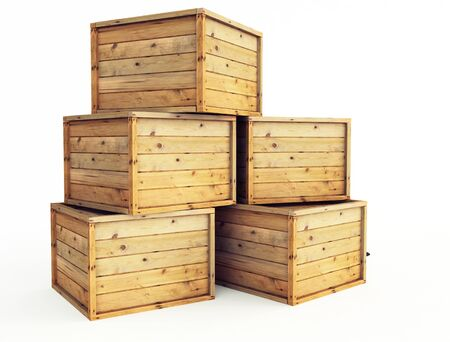 several wooden crates photo