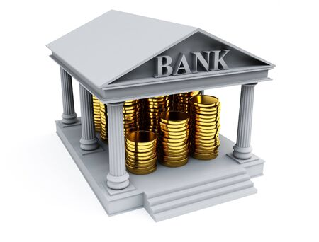 contribution: Bank 3d render Stock Photo