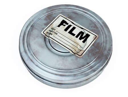 reel: Film can Stock Photo