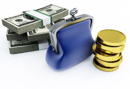 Purse and money photo